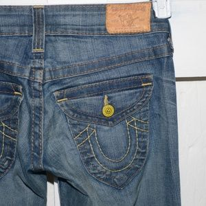 True religion flare womens jeans size 27 Long